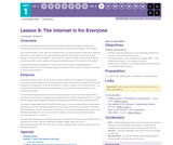 CS Principles 2019-2020 1.8: The Internet Is for Everyone