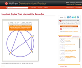 Inscribed Angles That Intercept the Same Arc