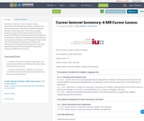 Career Interest Inventory: A MS Career Lesson