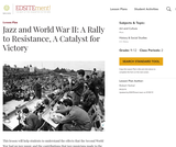 Jazz and World War II: A Rally to Resistance, A Catalyst for Victory