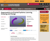 Organizations as Enacted Systems: Learning, Knowing and Change, Fall 2002