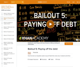 Financial Bailout 5: Paying Off the Debt