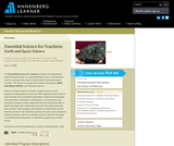 Essential Science for Teachers: Earth and Space Science