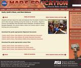 Earth, Earth's Moon and Mars Balloons