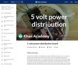 5 volt power distribution board