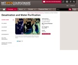 Desalination and Water Purification, Spring 2009