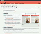 Research on Adjustable Letter Spacing