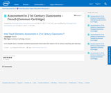 Assessment in 21st Century Classrooms - French (Common Cartridge)