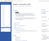 English Composition Moodle course shell