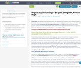 Repair my Technology - English Template, Novice High