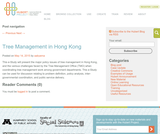 Tree Management in Hong Kong