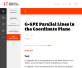 G-GPE Parallel Lines in the Coordinate Plane