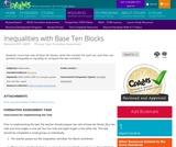 Inequalities with Base Ten Blocks