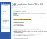Introduction to Theater Moodle Course Shell