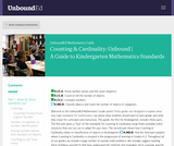 Counting & Cardinality: Unbound | A Guide to Kindergarten Mathematics Standards