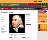 Philosophy of Law, Spring 2012