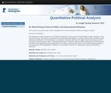 Quantitative political analysis