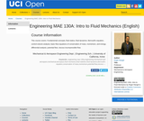 Engineering MAE 130A: Intro to Fluid Mechanics (English)