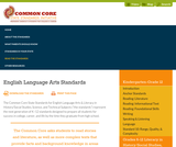 English Language Arts Standards - Common Core State Standards