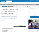 Template - Project Plan for creating online learning resources