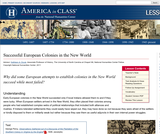 Successful European Colonies in the New World