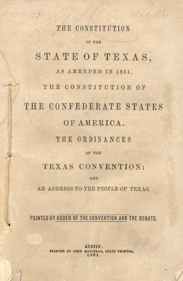 Constitution of 1861