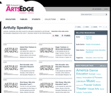 Artfully Speaking: Arts Education Lectures