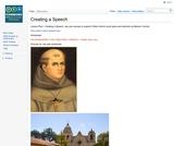 Creating a Father Serra speech