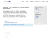 PBM 110 - Communication in Practical Business Management