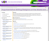 Argumentative Writing/Religions of the World Unit