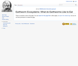 Earthworm Ecosystems: What do Earthworms Like to Eat?