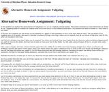 Activity Based Physics Alternative Homework Assignments: Tailgating