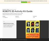 ROBOTS 3D Activity Kit Guide