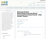 Berkeley Unified School District Garden-Based Learning Curriculum Fourth – Fifth Grades - Remix