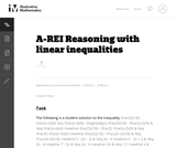 A-REI Reasoning with linear inequalities
