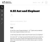 Ant and Elephant