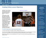 Creating Online Learning Objectives