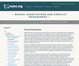 Negotiations and Conflict Management (Business 403)
