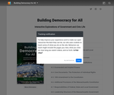 Building Democracy for All:  Interactive Explorations of Government and Civic Life