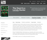 The Heart Is a Lonely Hunter by Carson McCullers - Teacher's Guide