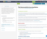 The Sustainability Learning Suites