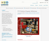 FTC Robotics Program: Reflections