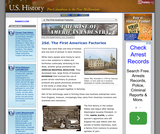 25d. The First American Factories