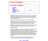 Area of Triangles and Other Regions