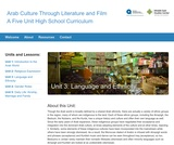 Arab Culture Through Literature and Film: Language and Ethnicity
