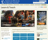 American Museum of Natural History-Resources for Learning