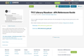TCC Library Handout - APA References Guide