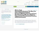 ESL for High Intermediate Students: The Way You Like It: High Intermediate Grammar/Writing: Part Two (of Two) Plus Vocabulary (Passive Adjective Expressions), Pronunciation Practice, and Pronunciation