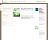 Advances in Biology & Earth Sciences