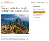 Couriers in the Inca Empire: Getting Your Message Across